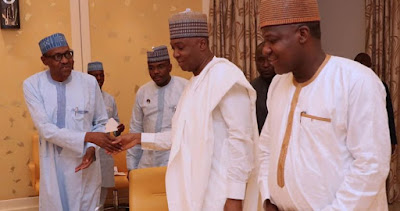 Buhari Didn't Discuss Elections Order When He Met Saraki, Dogara?