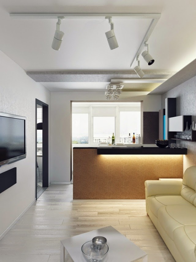sala de estar con cocina abierta colores en casa On desarrollar una pequena sala de estar con cocina abierta