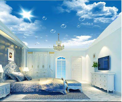 Stretch ceiling,3d stretch ceiling, stretch ceiling DIY, stretch ceiling designs,3d ceiling art for bedroom