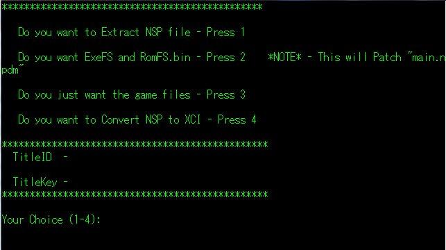 yyoosskのメモ: ニンテンドースイッチ xci、nca、nspの展開