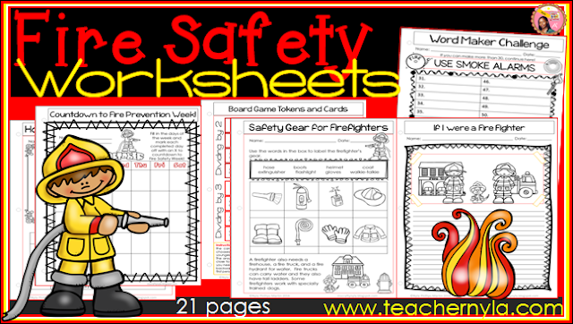 Fire Safety Week Worksheets