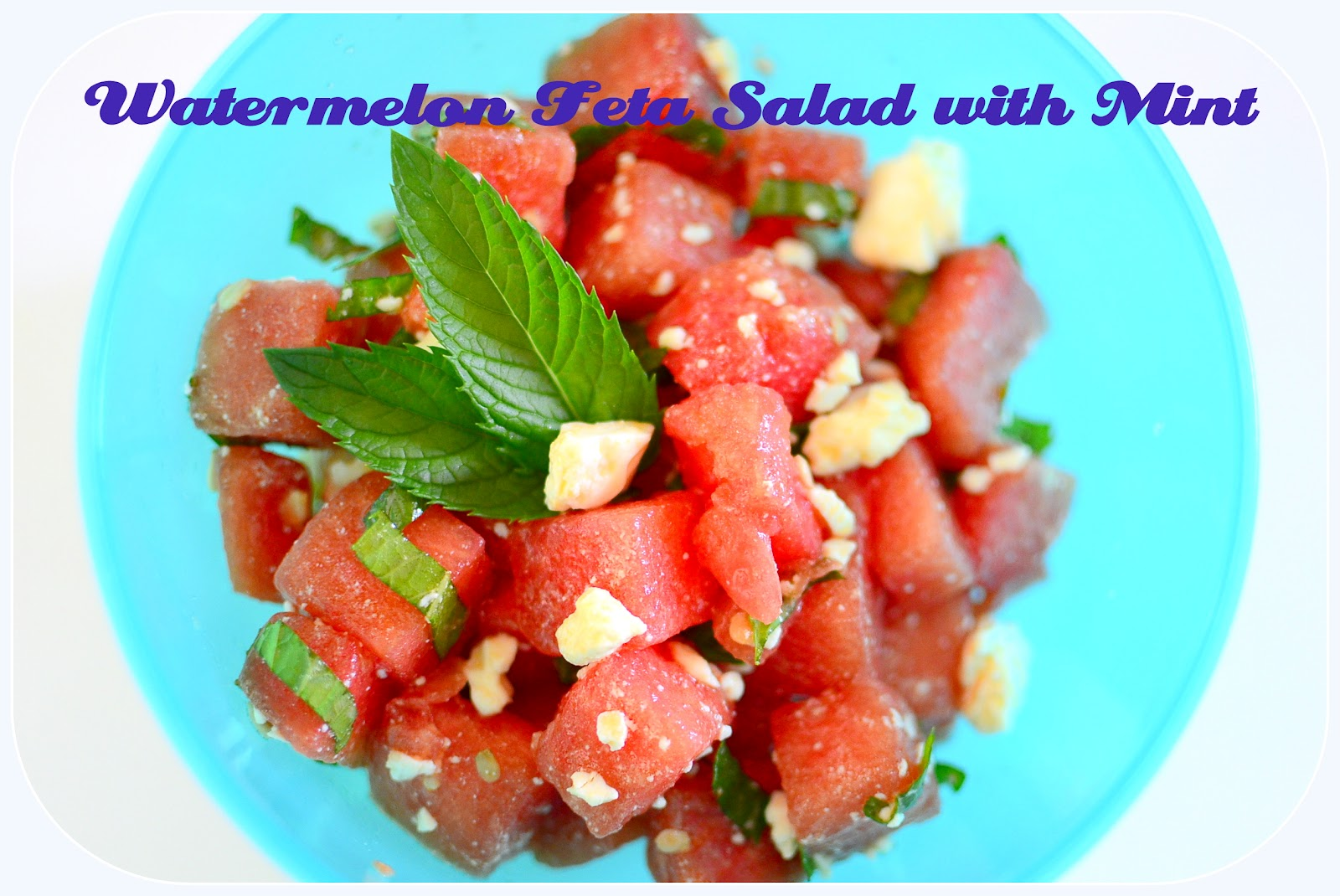 jane of all trades watermelon feta salad with mint. Black Bedroom Furniture Sets. Home Design Ideas