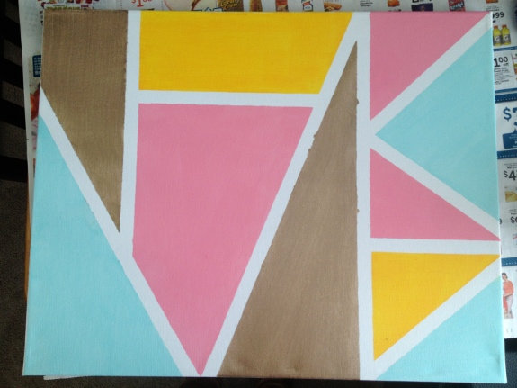 Diy geometric wall art pretty providence for Painting lines on walls