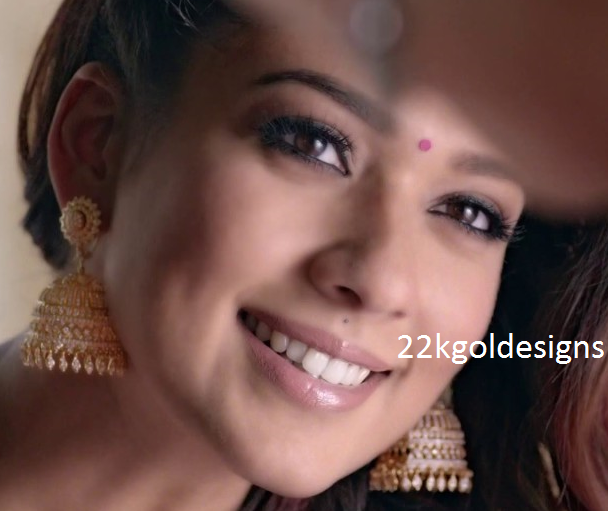 Nayanthara in GRT Diamond Jhumkas