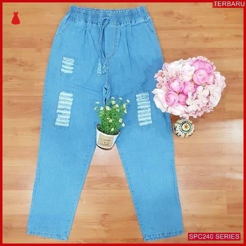 SPC240C44 Celana Jogger Sobek Jeans Celana Wanita   BMGShop