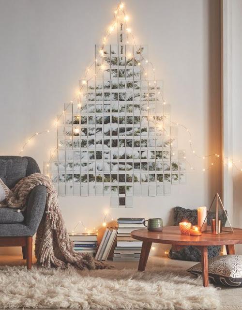 Árbol de Navidad  hecho con fotos, decoración navideña original
