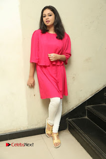 Actress Arundathi Nair Stills in Red Chididar at Bethaludu Success Meet  0145.JPG
