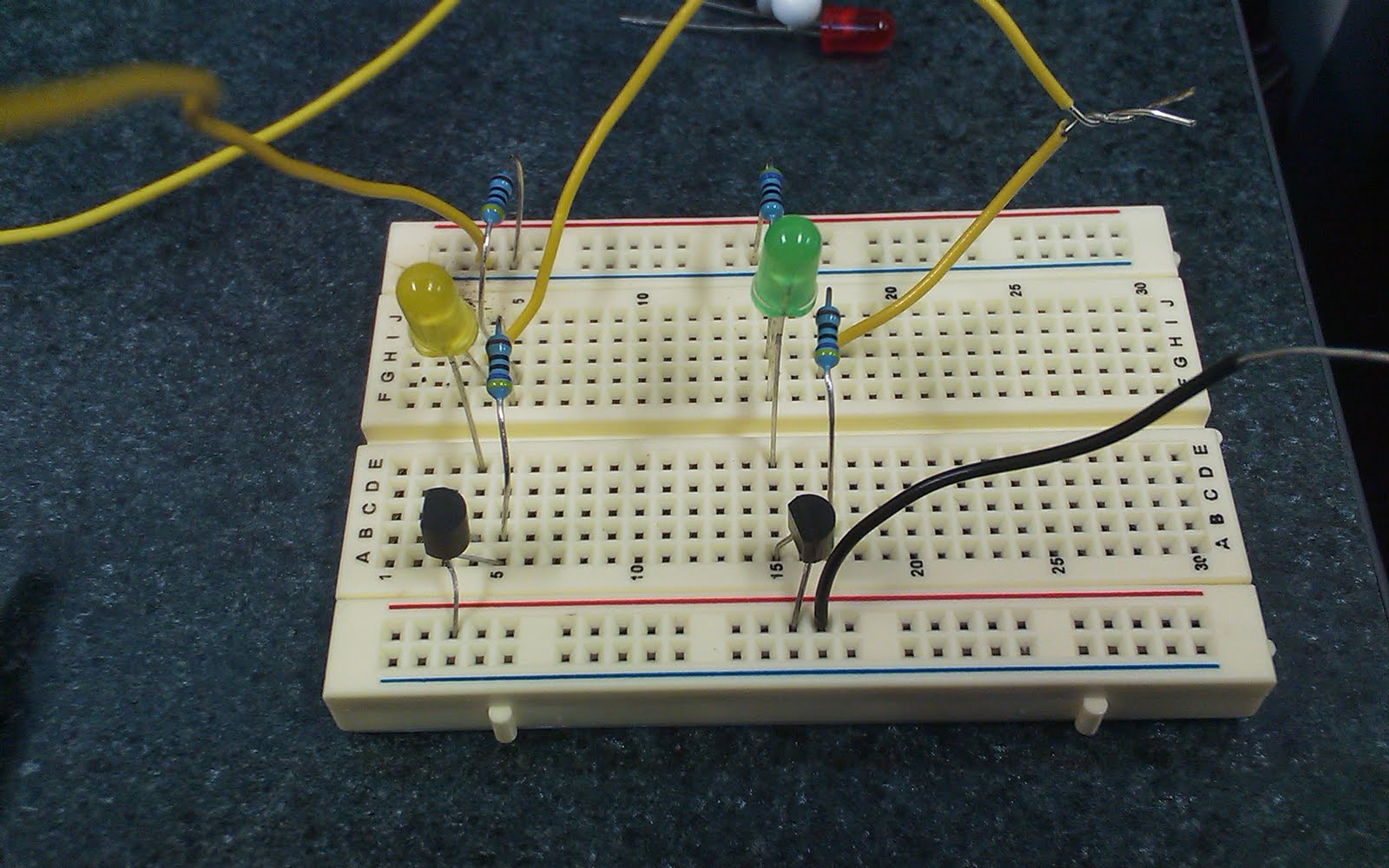 We Then Connected Up The Individual Circuit On The Circuit Board