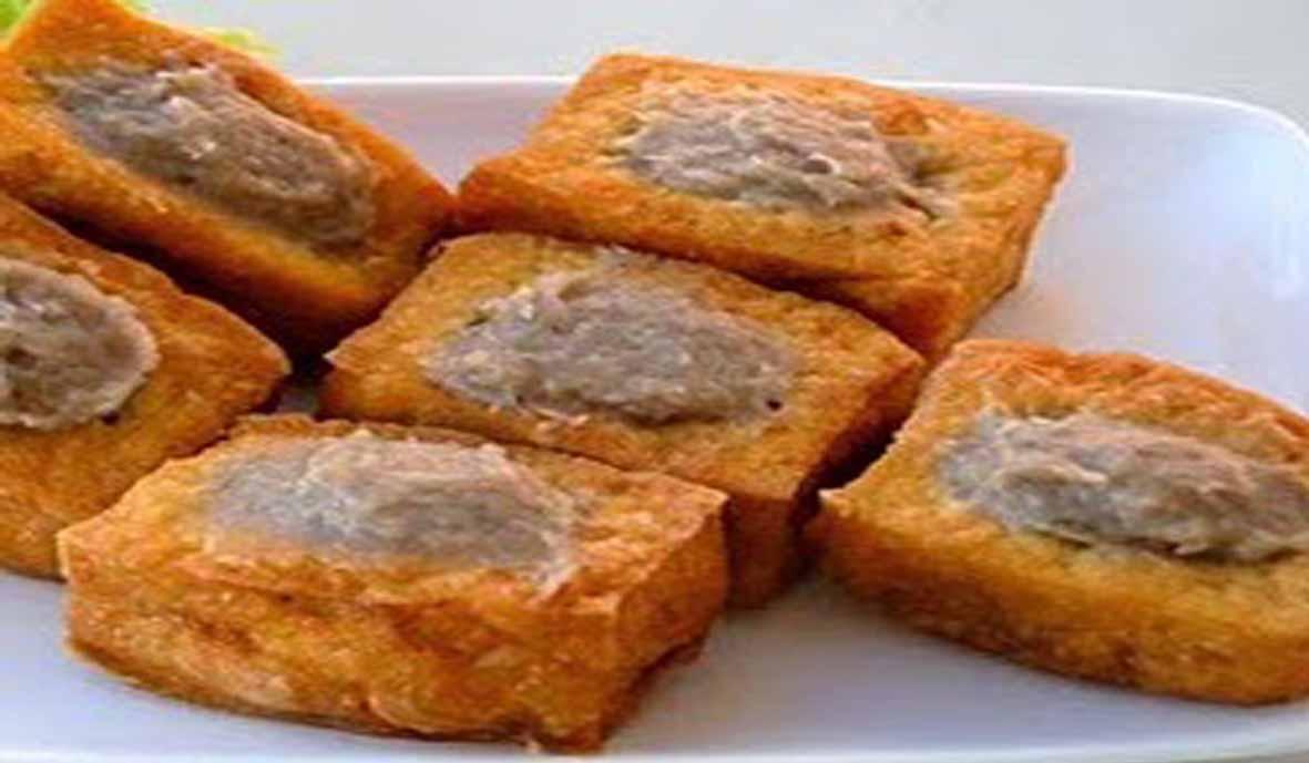 resep tahu isi bakso daging goreng gurih Resepi Ayam Hancur Enak dan Mudah