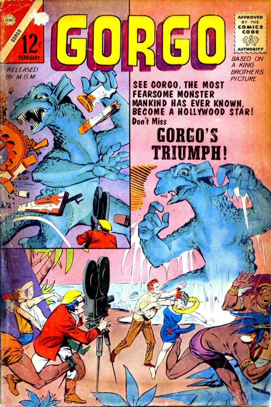 Gorgo v1 #11 charlton monster comic book cover art by Steve Ditko