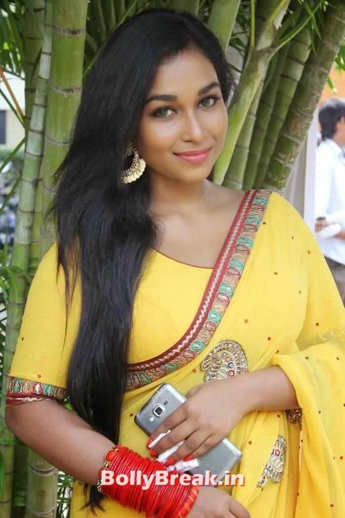 Swathi Pics in Yellow Saree, Kollywood Actress Swathi hot Pics in yellow Saree