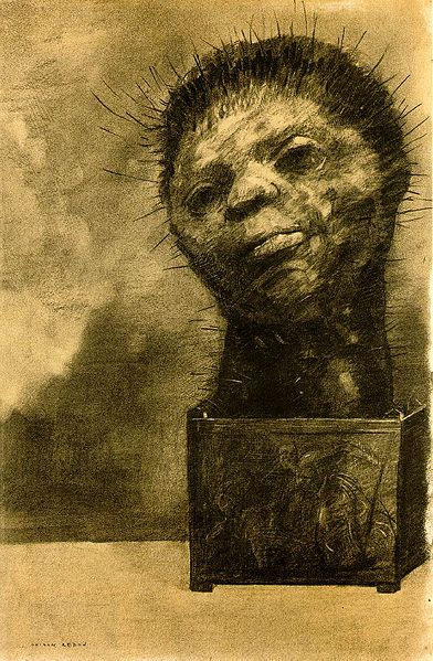 オディロン・ルドン、不気味な「目」を描いた画家の作品、10枚【a】 サボテン男 1881