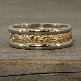 recycled two tone wedding band