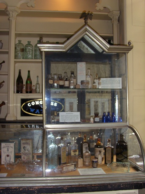 Old products sold in glass cases Stabler-Leadbeater Apothecary