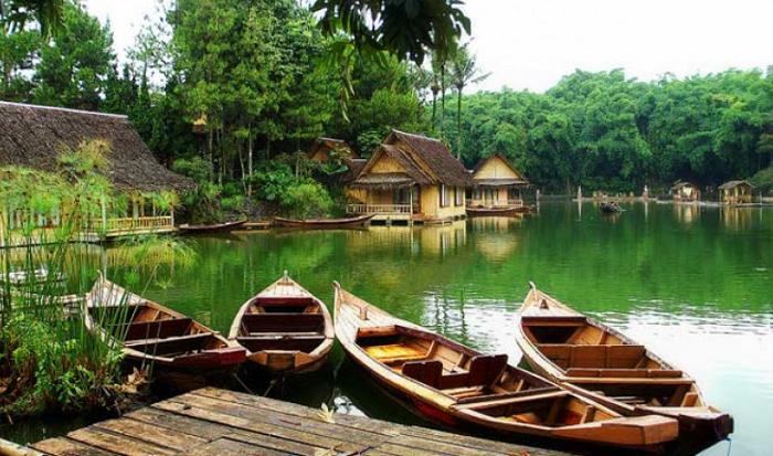 paket wisata garut kampung sampireun