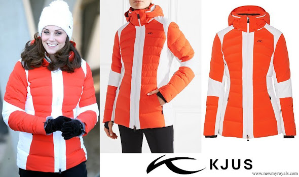Kate Middleton wore KJUS Duana two-tone quilted shell down jacket