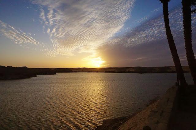 ナセル湖に沈む夕日