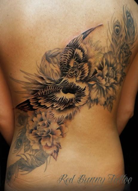 鳳凰 牡丹 タトゥー TATTOO 刺青