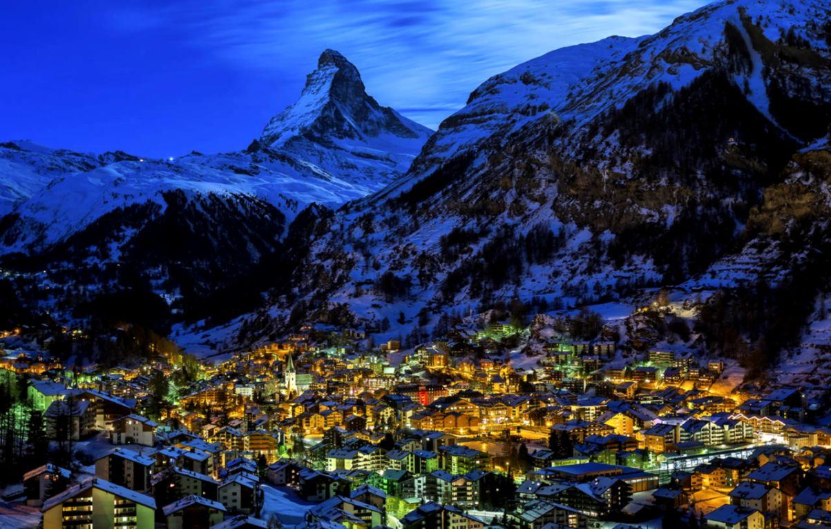 Switzerland Zermatt Night Lights All Hd Wallpapers Gallery