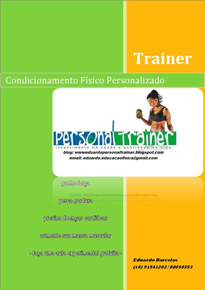 eduardo personal trainer  cart u00e3o de visita e folder