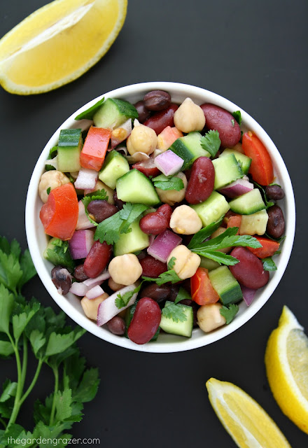 The Garden Grazer: Mediterranean Three Bean Salad