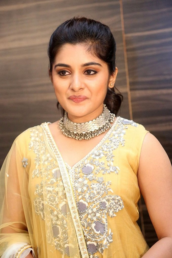 Nivetha Thomas at Ninnu Kori Movie Pre Release Function Stills