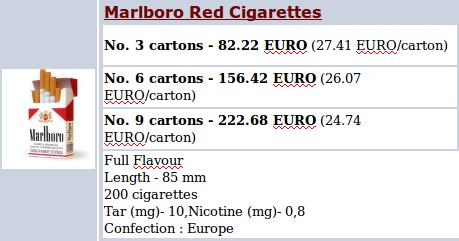 prix cigarettes sur intenet achat cigarettes pas cher vente marlboro en ligne prix choc. Black Bedroom Furniture Sets. Home Design Ideas