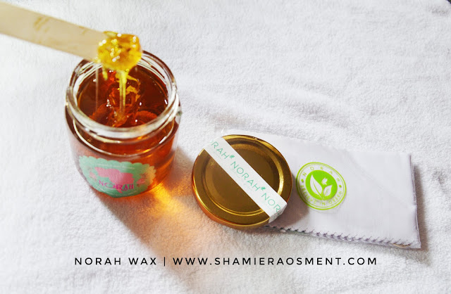 norah wax, wax, waxing at home, diy wax, organic wax,wax halal, wax murah, wax malaysia, wax muslimah,benefit using wax,