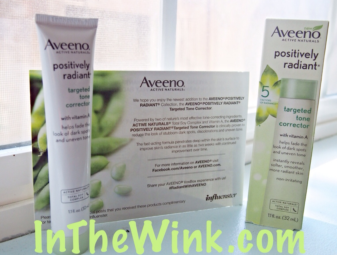 Beauty Box: Influenster + Aveeno Positively Radiant Targeted Tone Corrector