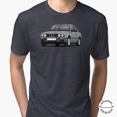 BMW E30 harmaa t-paidat 3-sarja