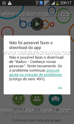 erro 491 google play