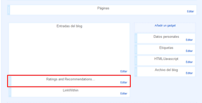 Insertando el Widget en Blogger