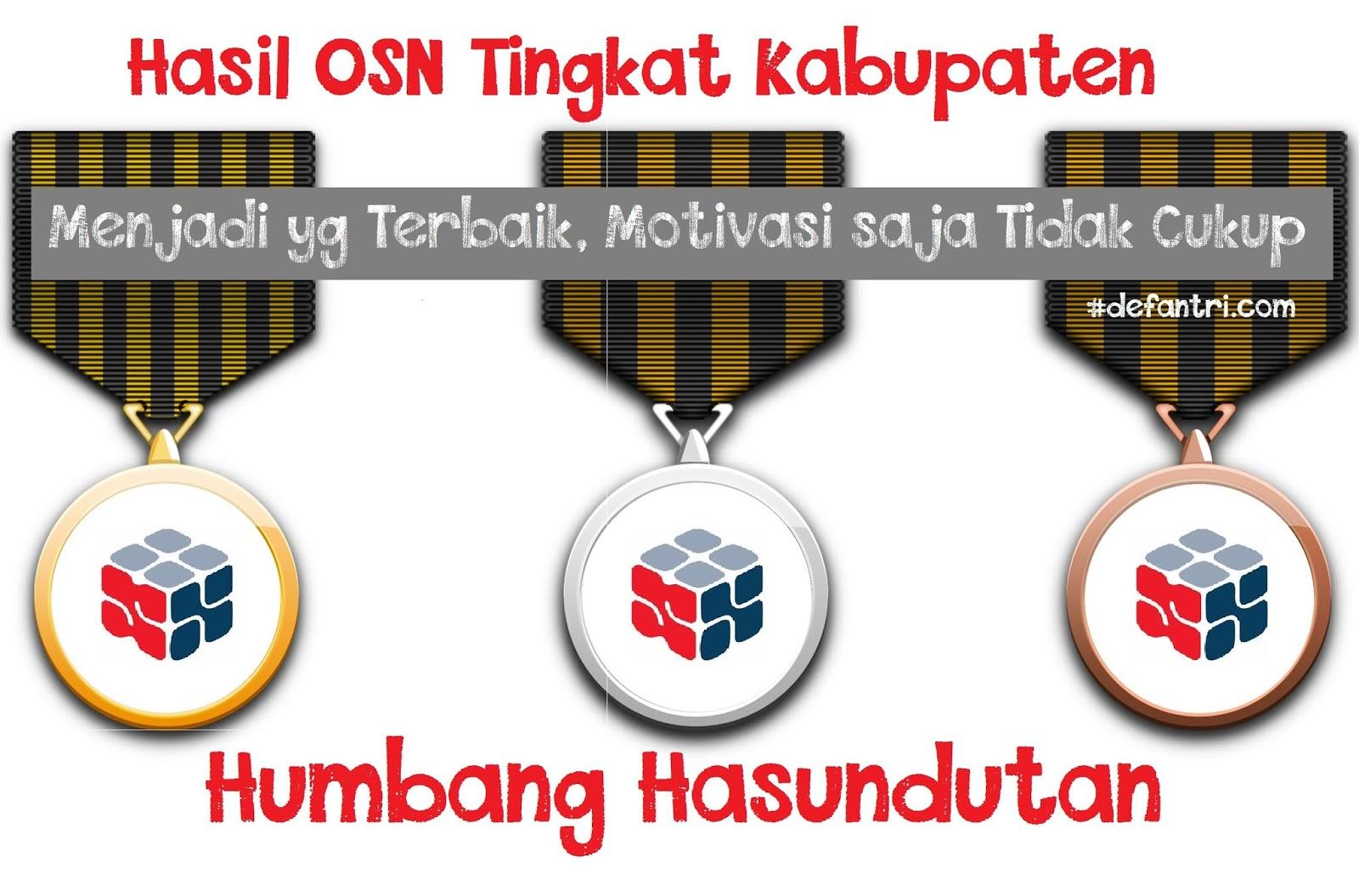 Hasil OSK Kabupaten Humbang Hasundutan 2019 (*Masih Menunggu)