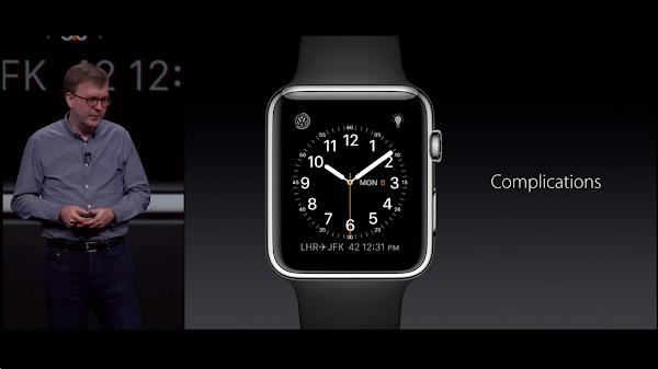 圖說:WWDC2015 Apple 發表 WatchOS 2 的介面,數位時代翻拍