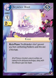My Little Pony Repulsor Blast Marks in Time CCG Card