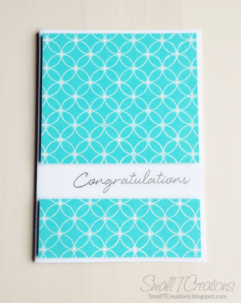 Clean & Simple Congratulations Card | Small T Creations