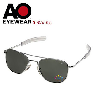 AO Original Pilot Aviator Sunglasses (52mm/57mm Matt Chrome, Grey Non-Polarized)