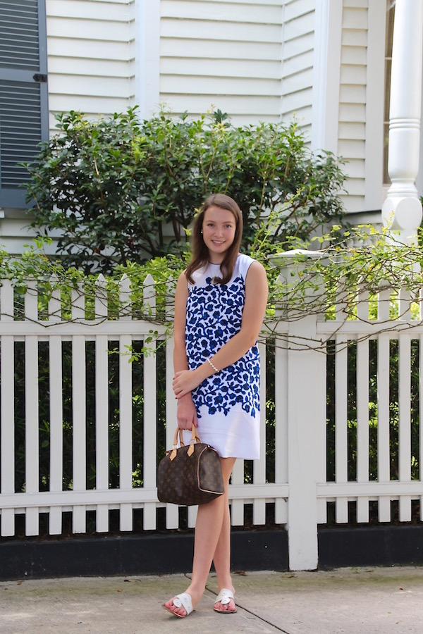 Gimme Glamour: Draper James Vidalia Vine shift dress in Charleston