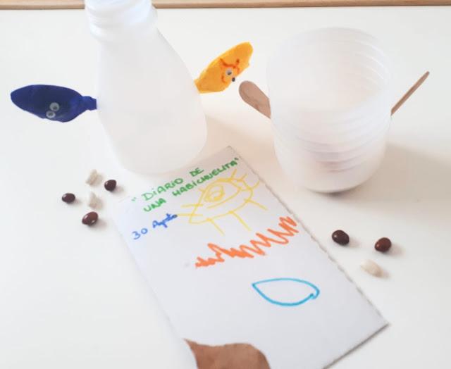 Actividad para peques: macetas con materiales reciclados