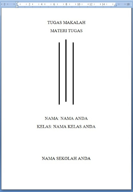 Download Cover Makalah Garis 3 Contoh Makalah