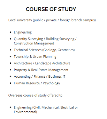 Gamuda scholarship course of studies and interview