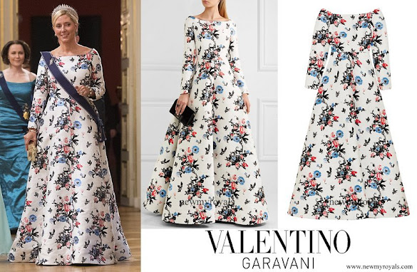 Crown Princess Marie-Chantal wore VALENTINO Brocade gown