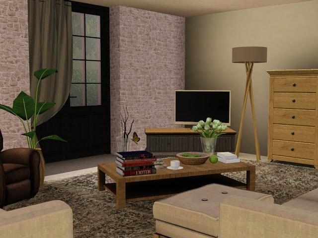 salon maison de campagne Sims 3