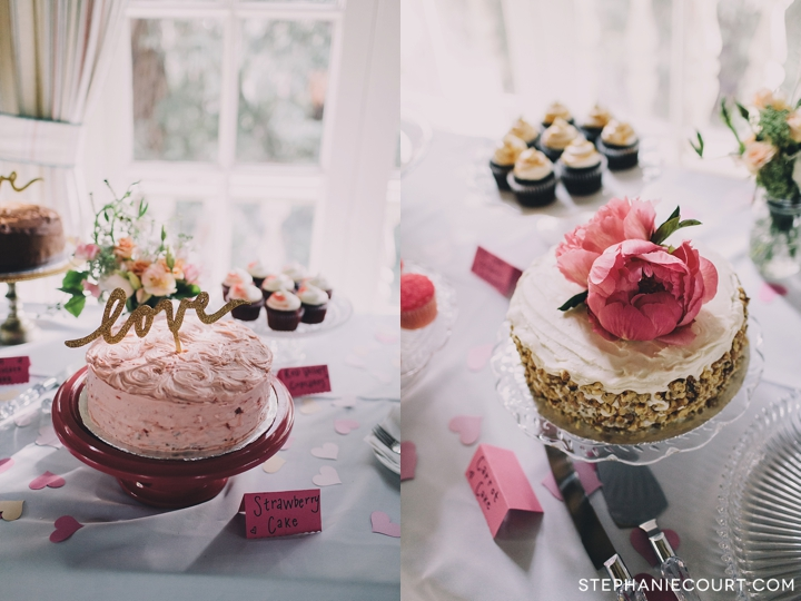 chic dessert table at wedding reception