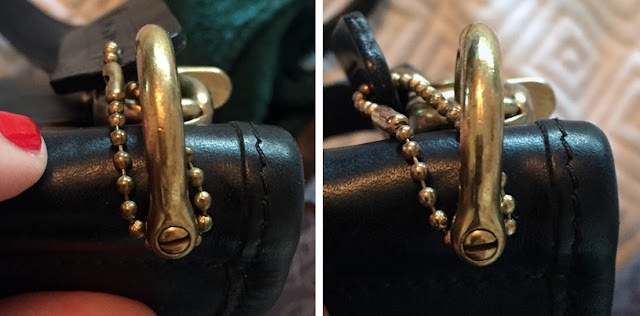 Cleaning Coach Brass Hardware Before & After | How to Care for a Classic Coach Purse