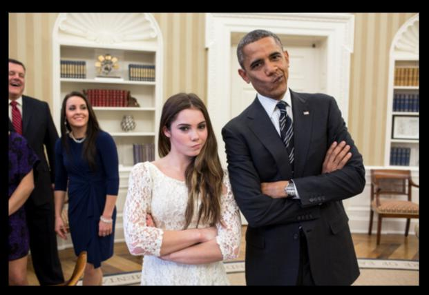 mckayla maroney Face Impression with Obama