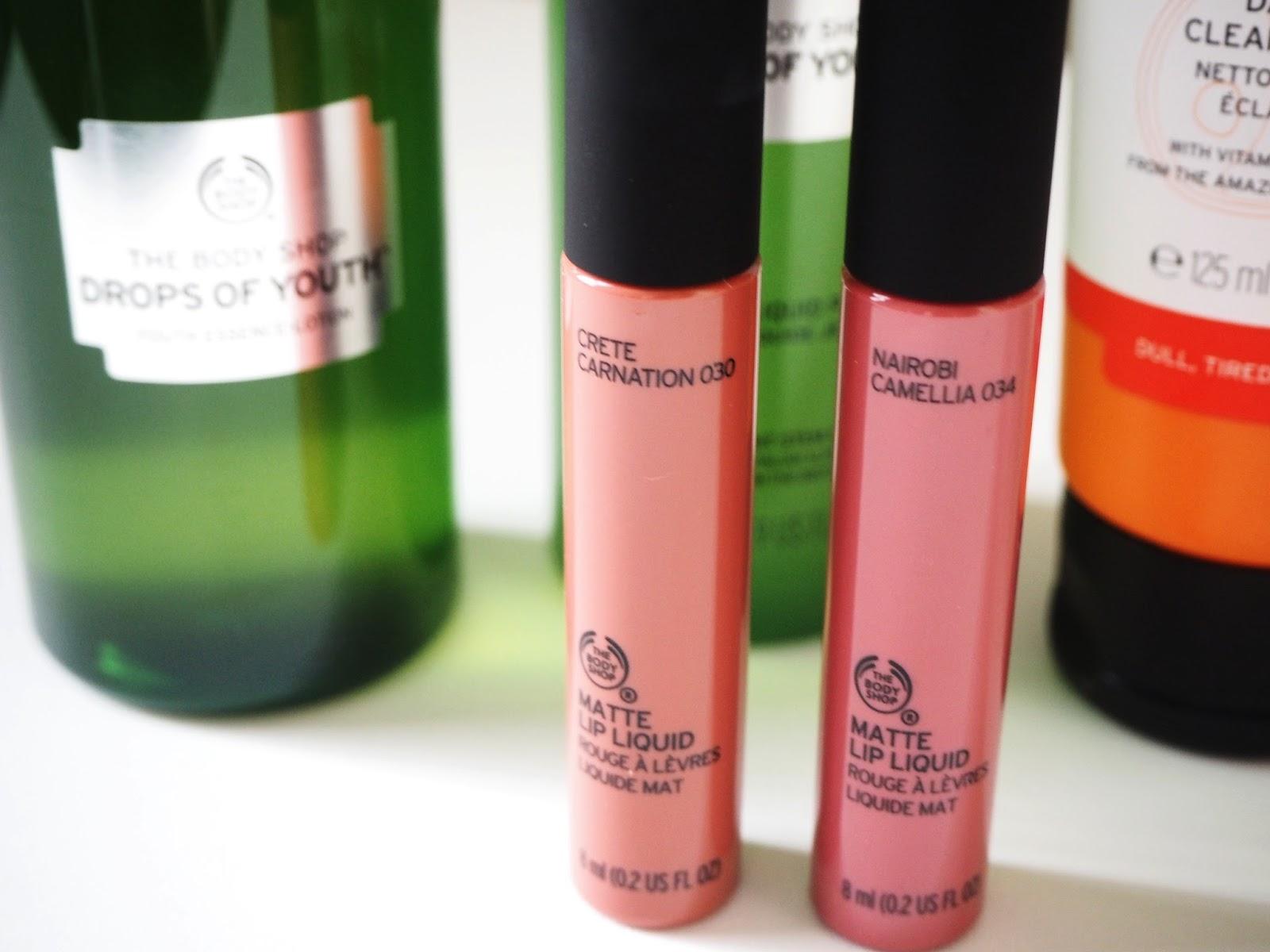 Beauty: A Little Body Shop Haul | Hollie In Wanderlust | Liquid Lipsticks