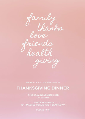 free editable thanksgiving invitations to print