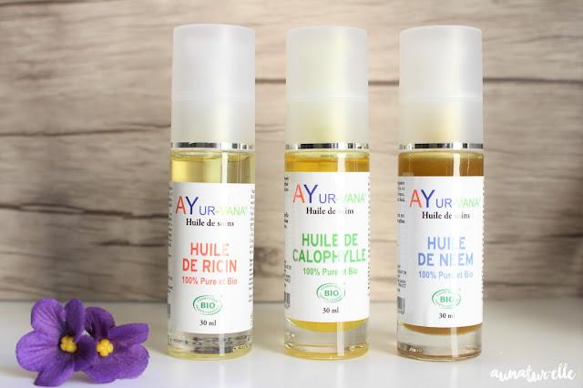 huiles végétales 100% pures et bio