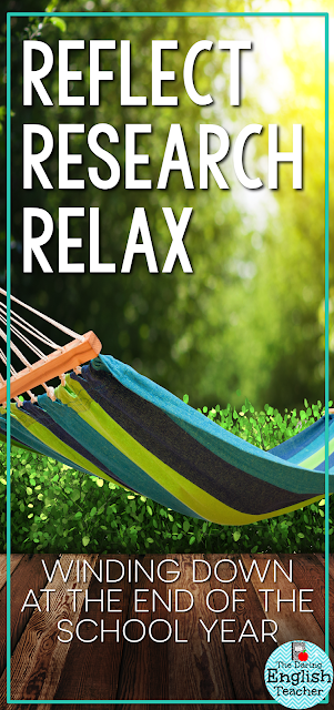 Winding down after the school year. Three things teachers can do in the summer.